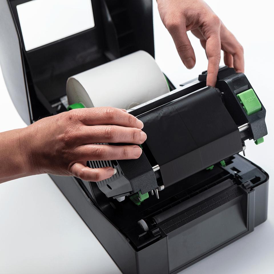 Standarta vaska/sveķu (wax/resin) termo pārneses melna tintes lente BSS-1D300-110 3
