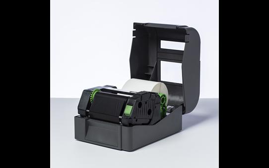 BWS-1D300-110 ribbon cu cerneală neagră și ceară standard pentru transfer termic 2
