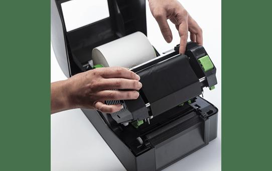 Įprastinė vaškuota juodo rašalo terminio perdavimo juosta BWS-1D300-110 3