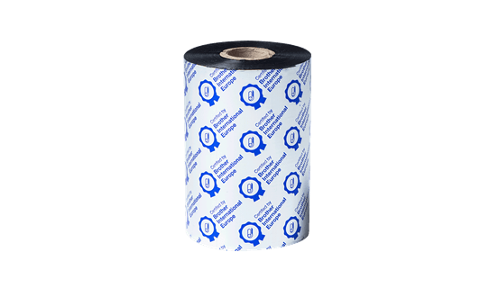 Standarta sveķu termo pārneses melnas tintes lente BRS-1D450-110 2