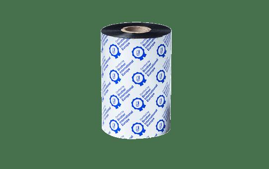 BSP-1D450-110 - Ruban encreur noir en cire / résine premium à transfert thermique 2