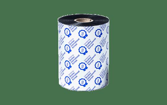 Premium vaska/sveķu termo pārneses melnas tintes lente BSP-1D600-110 2