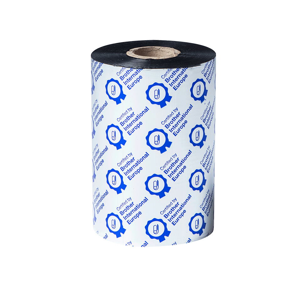 BSS1D450110 450m ribon pentru imprimante TJ pe fundal transparent - față