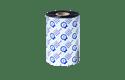 Ruban encreur noir de cire/résine standard à transfert thermique BSS-1D450-110 (Boîte avec 8 rouleaux) 2