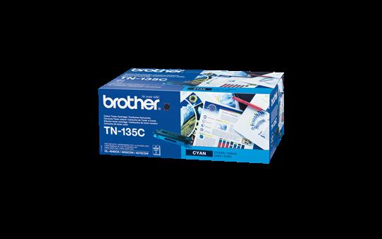 Oriģinālā Brother TN135C tonera kasetne – ciāna krāsā
