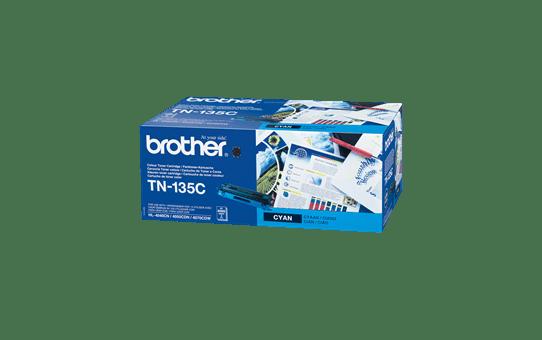 Оригинална тонер касета Brother TN135C, голям капацитет – син цвят
