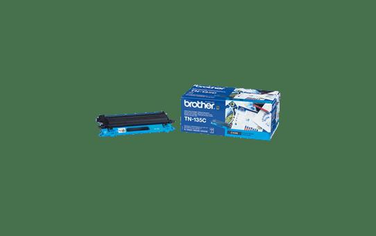 Оригинална тонер касета Brother TN135C, голям капацитет – син цвят  2