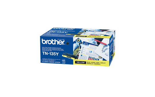 Original Brother TN135Y stor gul toner