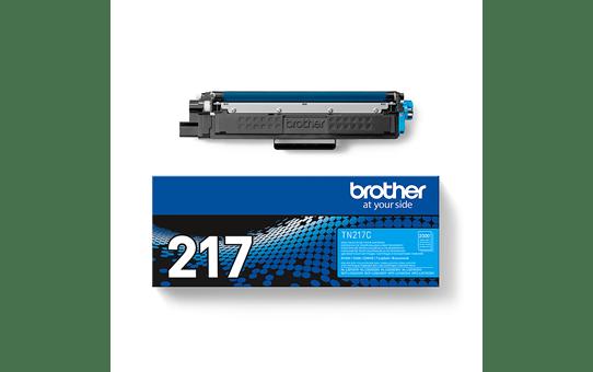 Оригинальный Brother TN217C тонер картридж – голубой 3