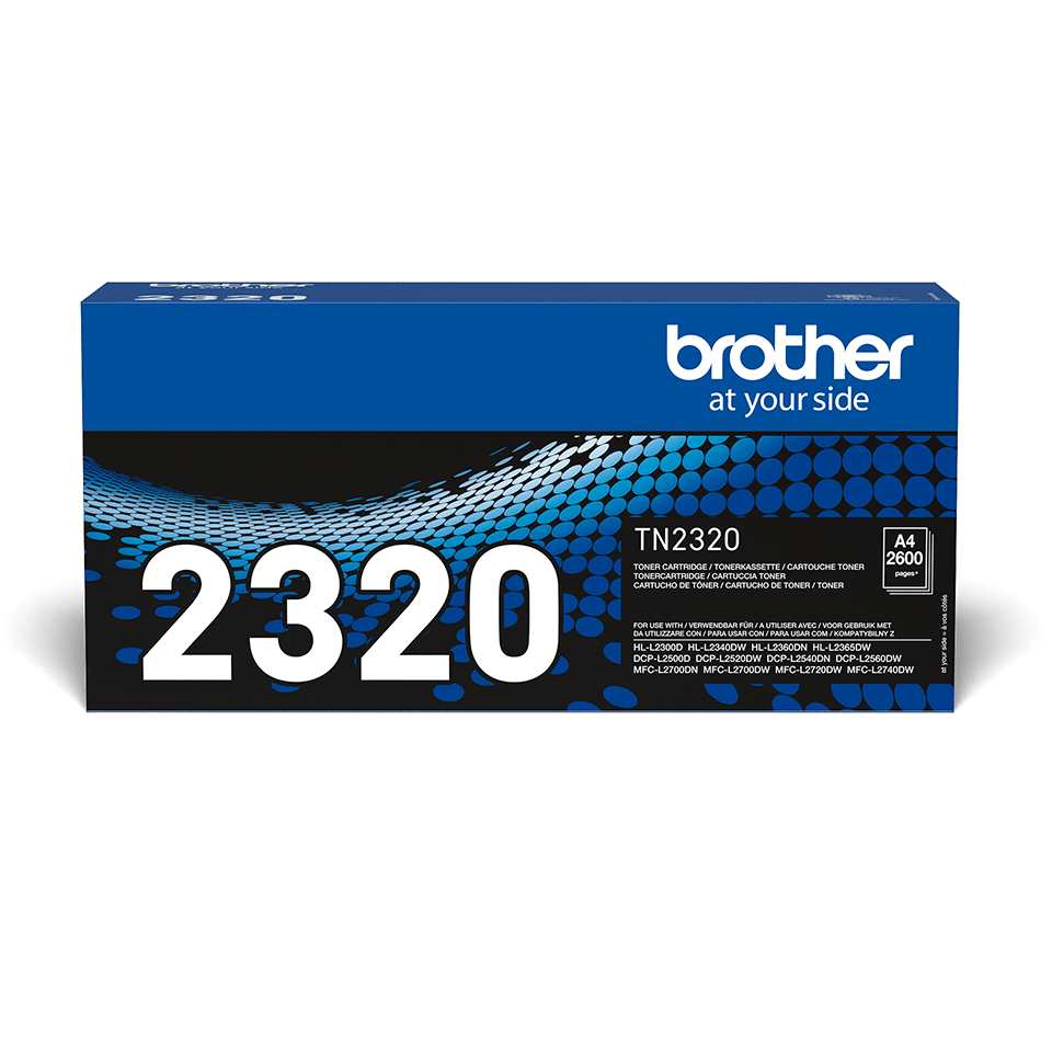 TN2320  Brother genuine toner cartridge pack front image