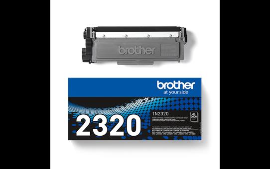 Oriģinālā Brother TN2320 augsta ražīguma krāsas tonera kasetne - melna.  3