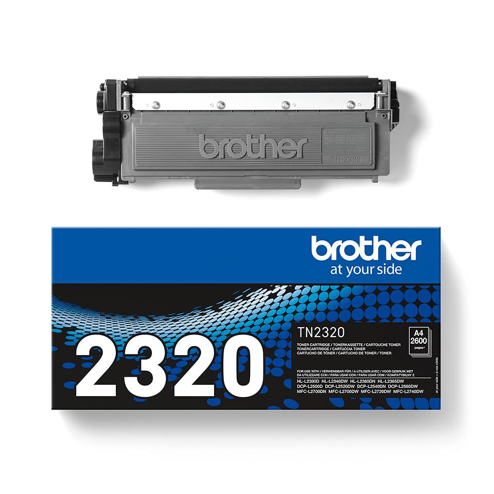 Original Brother TN2320 stor sort toner, der giver op til 2.600 A4 sider 3