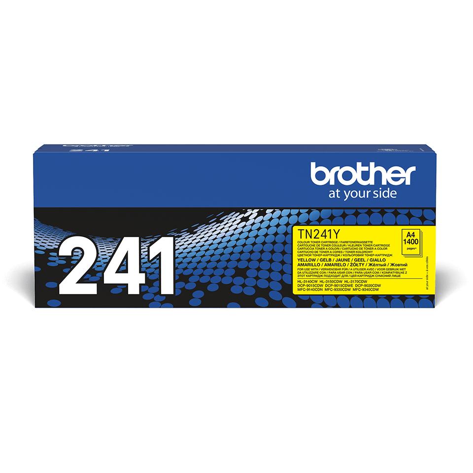 Brother original TN241Y tonerkassett – Gul