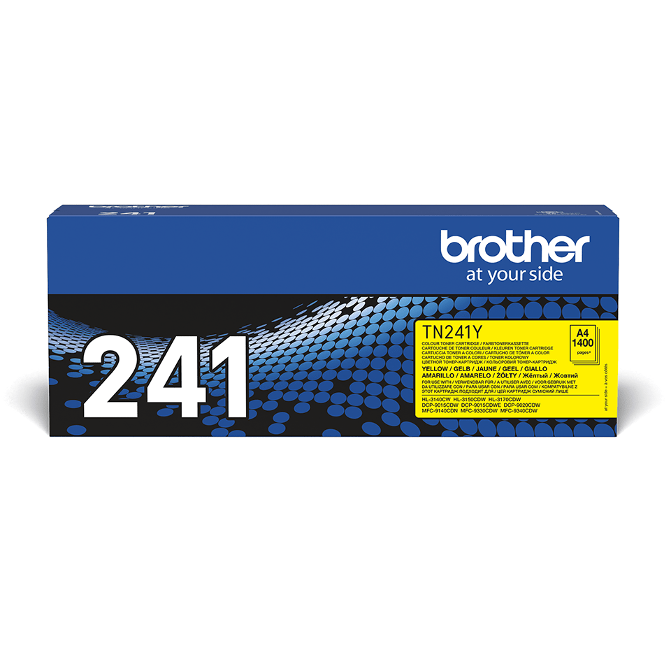 TN241Y Brother genuine toner cartridge pack front image