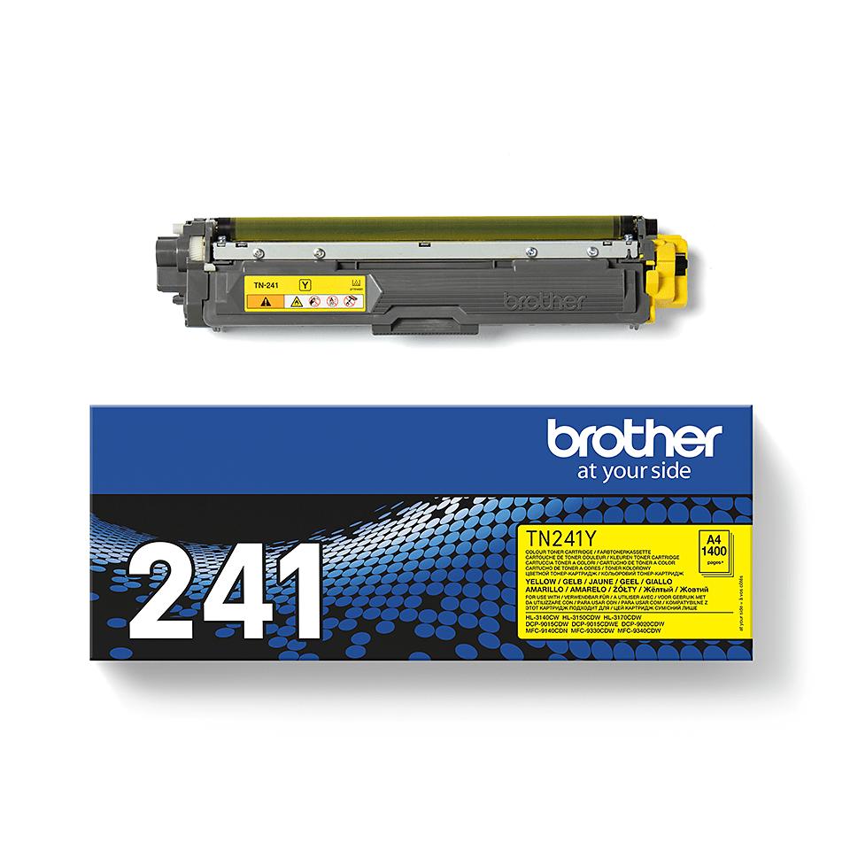 Brother original TN241Y tonerkassett – Gul 3