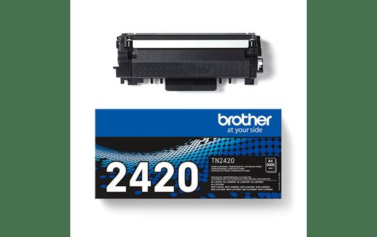 Originlai Brother TN-2420 juodos spalvos dažų kasetė 3
