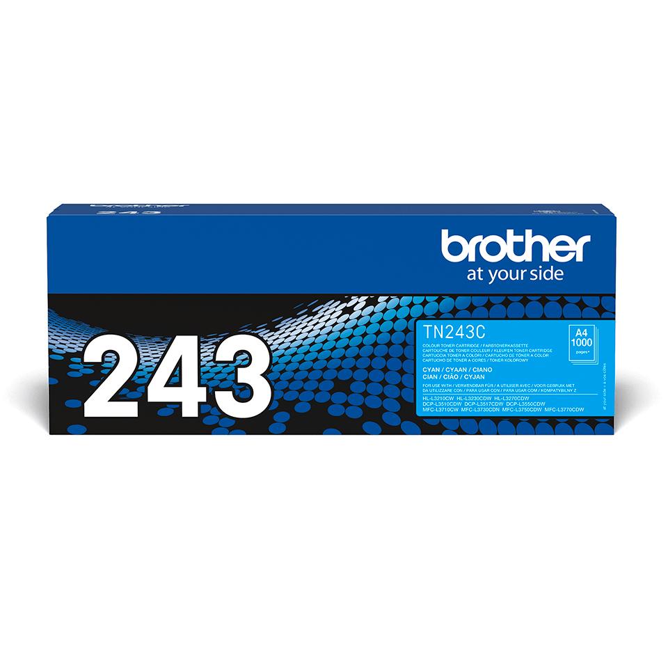 TN243C Brother genuine toner cartridge pack front image