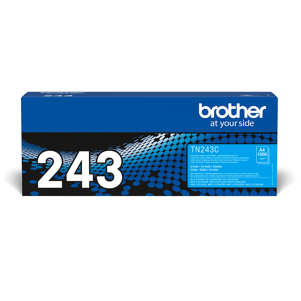 TN243C Brother genuine toner cartridge pack front image