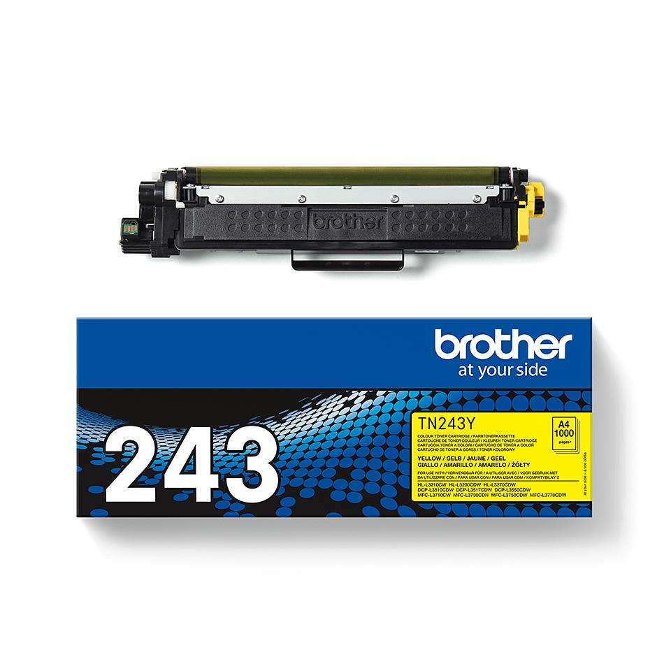 Genuine Brother TN-243Y Toner Cartridge - Yellow 3