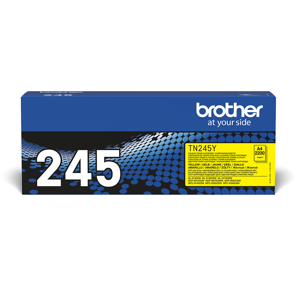 TN245Y Brother genuine toner cartridge pack front image