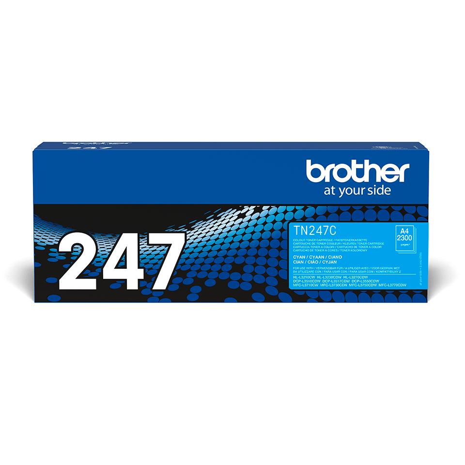 TN247C dažų kasetės pakuotė