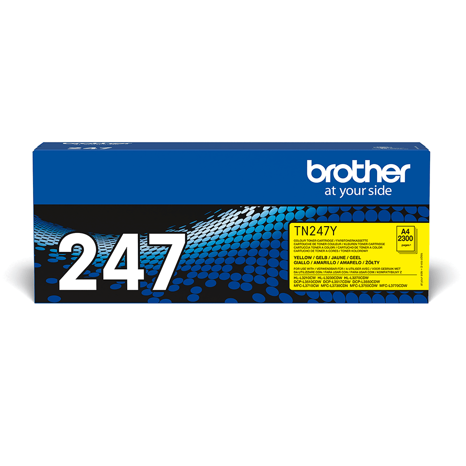 TN247Y Brother genuine toner cartridge pack front image