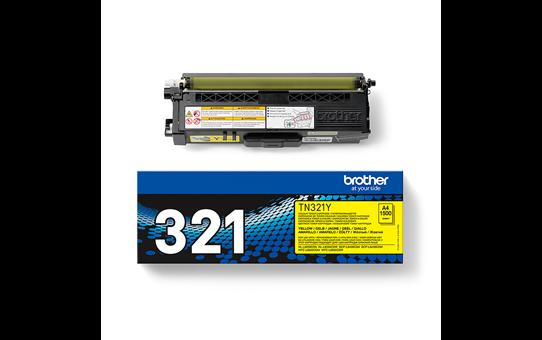 Brotherin alkuperäinen TN321Y-laservärikasetti - Keltainen 3