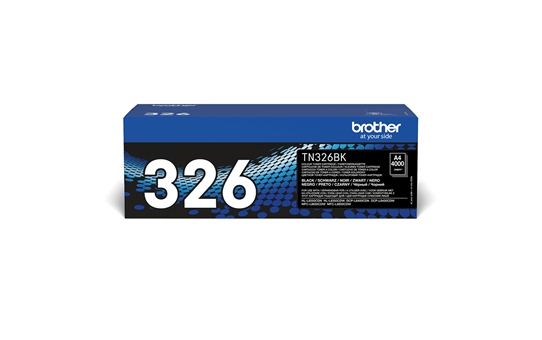 Genuine Brother High Yield TN-326BK Toner Cartridge – Black