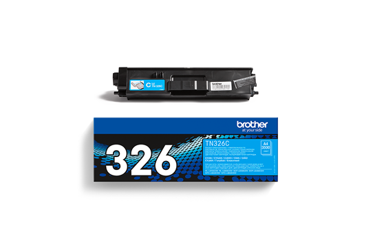 Genuine Brother TN-326C Toner Cartridge – Cyan 2