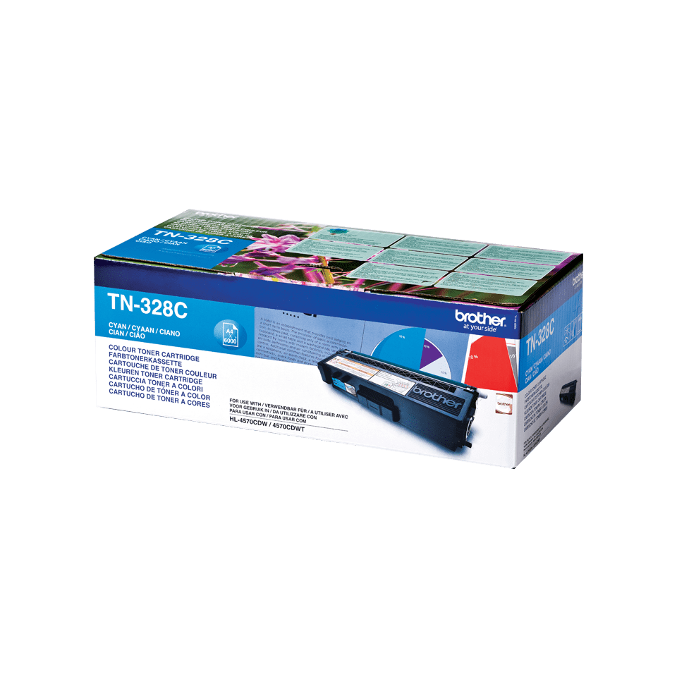 Genuine Brother TN-328C Toner Cartridge – Cyan