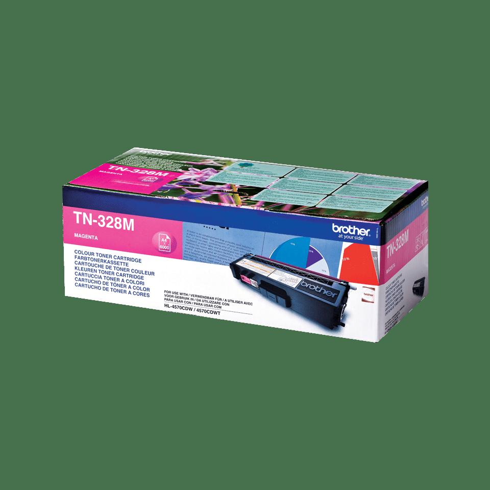 Brother original TN328M tonerkassett – magenta