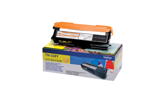 Original Brother TN328Y super høykapasitet toner – gul 2