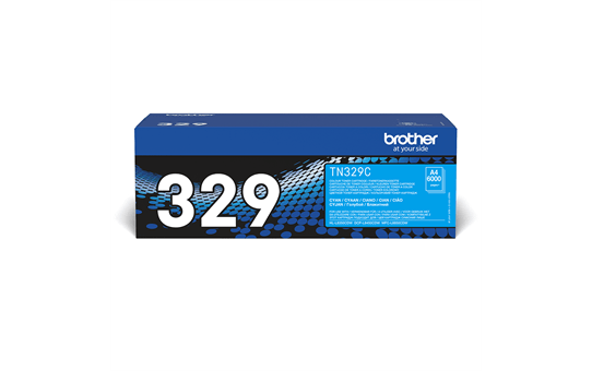Oriģinālā Brother TN329C tintes kasetne, ciāna