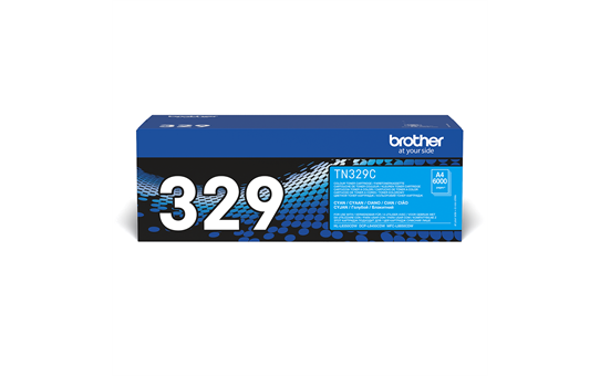 Brother original TN329C tonerkassett – cyan