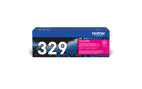Brother original TN329M tonerkassett – magenta