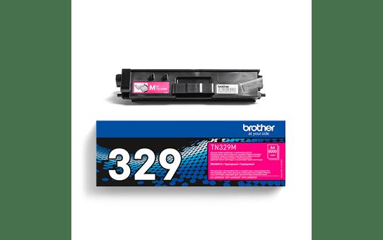 Оригинална тонер касета Brother TN329M– червен цвят 3