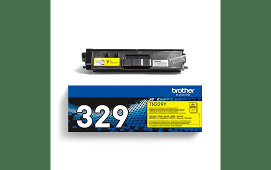 Brotherin alkuperäinen TN329Y-laservärikasetti – Keltainen 3