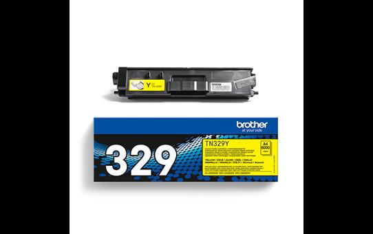 Original Brother TN329Y super høykapasite toner – gul 3