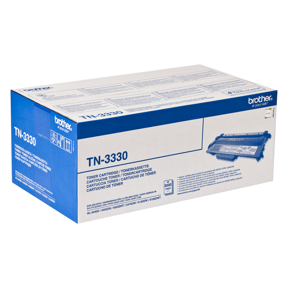 Brother TN-3330 original tonerkassett -  Svart 2