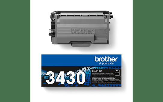 Brotherin alkuperäinen TN3430-laservärikasetti – Musta 3