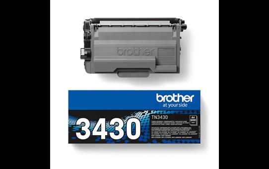 Oriģināla Brother TN-3430 tonera kasetne - melna 3
