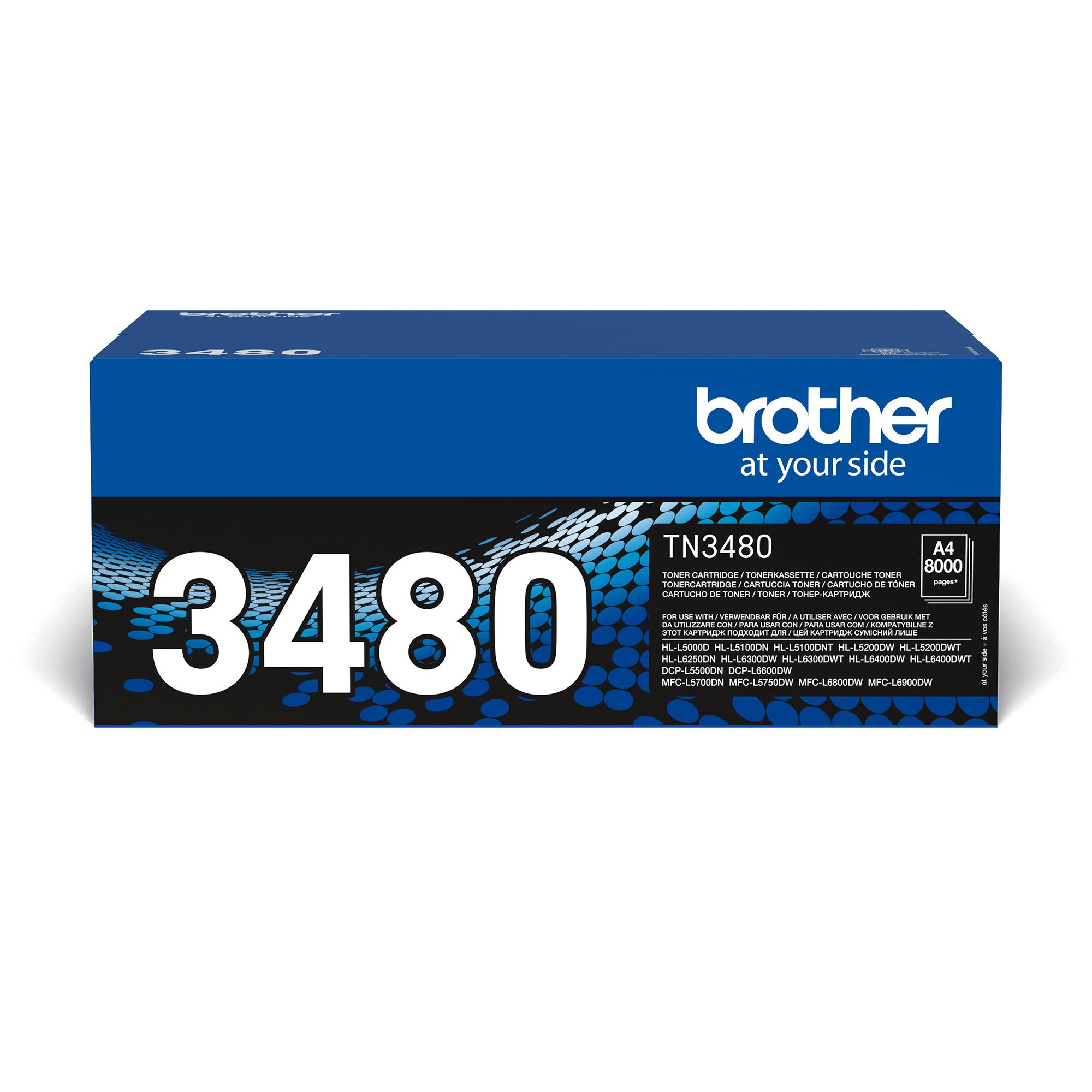 Toner preto TN3480 Brother