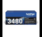 Brother TN3480 sort høykapasitetstoner med og uten eske