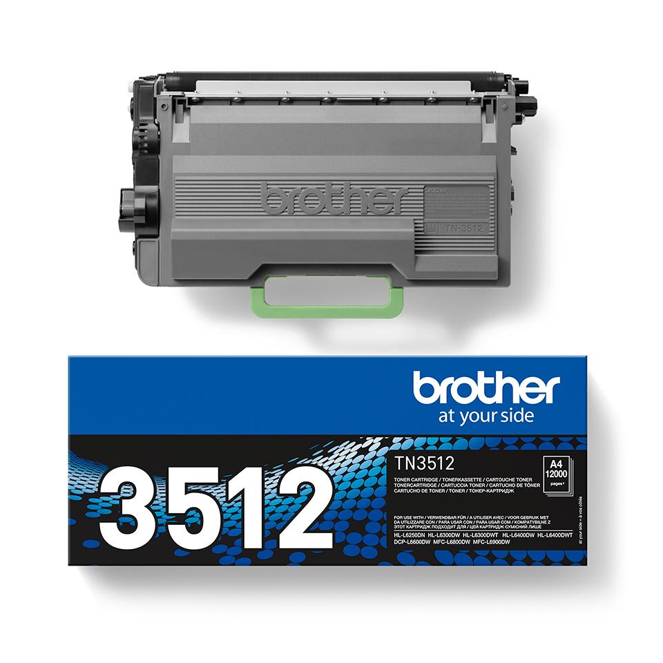 Brother TN3512 toner noir - super haut rendement