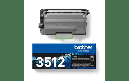 Genuine Brother High Yield TN3512 Toner Cartridge – Black 3