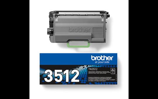 Brother TN3512 original super høykapasitet toner sort 2
