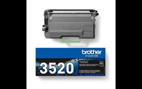 Original Brother TN3520 ekstra stor sort toner 3