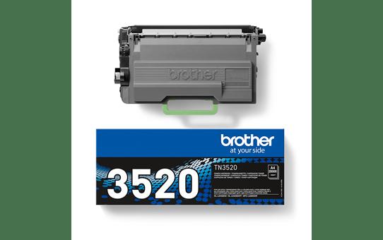 Cartouche de toner TN-3520 Brother originale à très haut rendement – Noir 3
