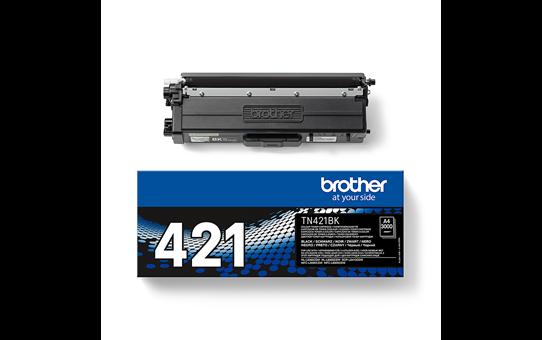 Brother TN421BK: оригинальный черный тонер-картридж. 3