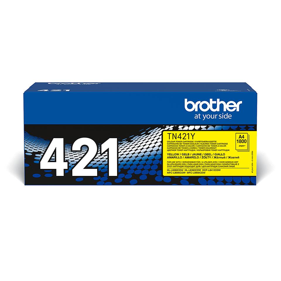 Genuine Brother TN421Y Toner Cartridge – Yellow 2